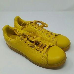 Adidas Stan smith yellow s eaters men's size 8.5